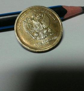 БРАК монета 10 рублей 2017 года