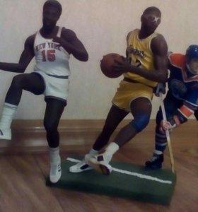 Фигурки модели спортсменов футбол хоккей и баскетб