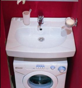 Умывальник над стиральной машиной