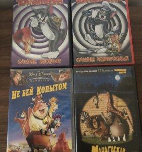 DVD для детей Мадагаскар ледниковый период 3 шт