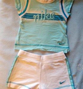 Комплект футболка+шорты nike, 92-98см, 2-3г