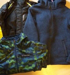 Куртки пакетом 10-12 лет.