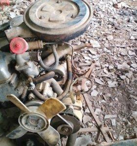 Двигатель 1 комплект с коробкой передач в рабочем