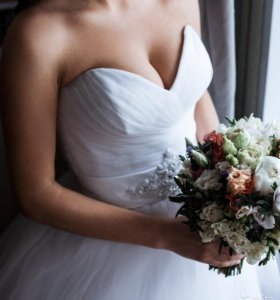 Свадебное платье Габриэль от Eva Bridal с фатой