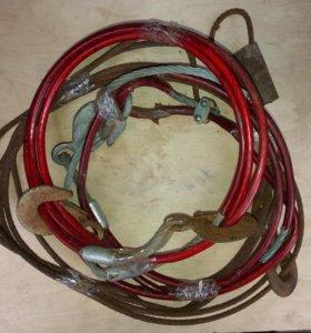 Трос Ф10, 16, 4, 3, 2,5. Ф8, 6 м, с крючками букс