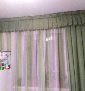 Тюль и шторы для кухни