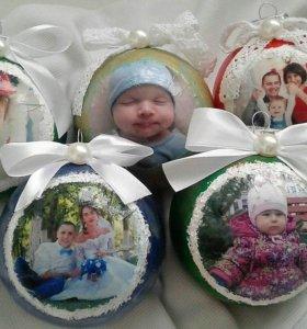 Новогодние шары с вашим фото