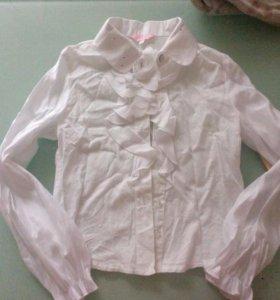 Рубашка белая школьная 122