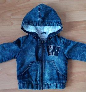Тёплая джинсовая курточка