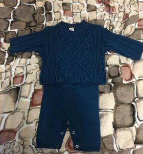 Тёплый костюм для малыша новый