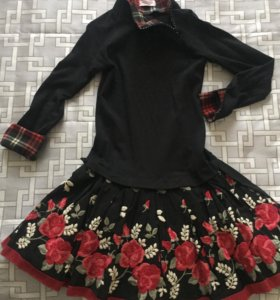 Платье Monna Lisa 6 лет черное