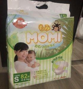 Японские подгузники MOMI S(4-8кг)