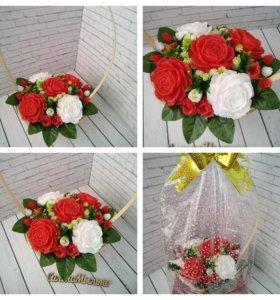 Букет цветов из мыла ручной работы