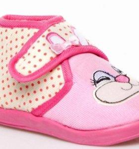 Теплые туфельки для девочек. Размер 24-25. Турция.