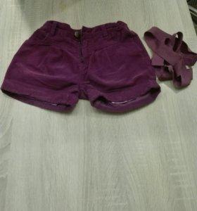 шорты на девочку 4—6 лет