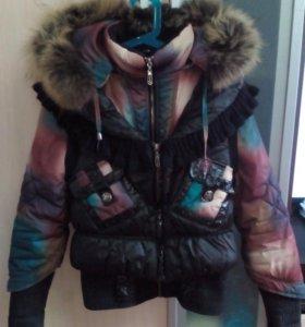 Куртка+жилет. Рост 158.