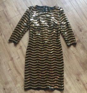 Золотое платье с паетками