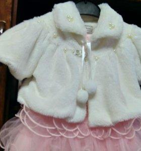 Праздничное платье ( новогоднее ) для девочки.