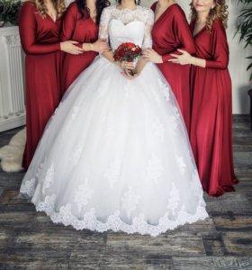 Платья подружек невесты (марсала)