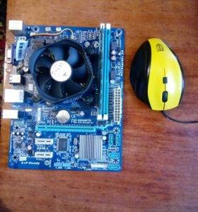 Материнская плата + оперативная память + процесор
