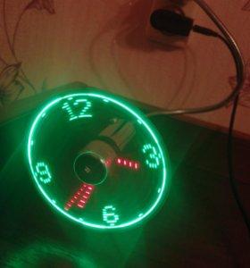 Вентилятор + часы