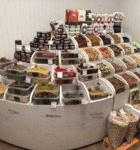 Продаю стеллажи для сухофруктов и орешков