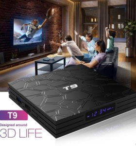 T9 Android 8,1 Smart IP tv Box 4 гб/32 гб 4К