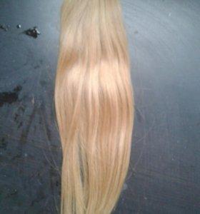 Волосы для наращивания. Славянка блонд 50-55 см.