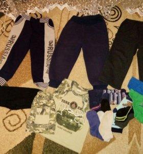 Спортивные брюки + одежда на мальчика