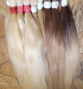 Натуральные волосы в срезах