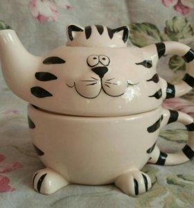 Чайный набор кот