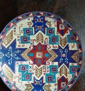 Тарелка с росписью Звездочка моя