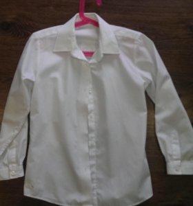 Блуза белая с длинным рукавом