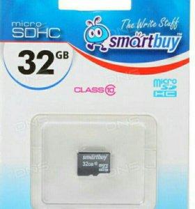 Карта памяти sd-micro 32 gb class 10