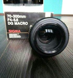 Объектив Sigma 70-300 f4-5,6 dg macro на Canon