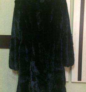 Норковая шубка (поперечная, чёрный бриллиант)