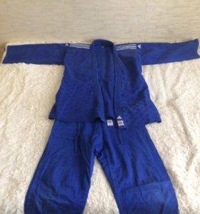 Кимоно для дзюдо ADIDAS Champion 2 синее (175)