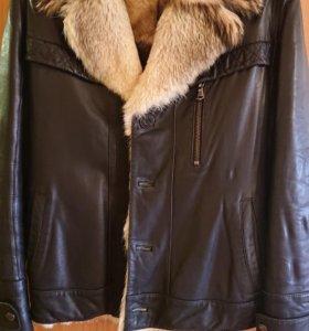 Кожаная зимняя куртка с мехом шкала