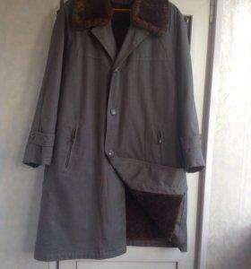 Полу / пальто мужское на овчине