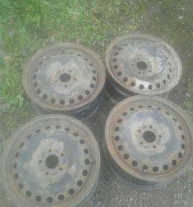 """Штампованные диски форд 16"""""""