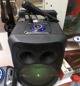 Переносная колонка с микрофоном