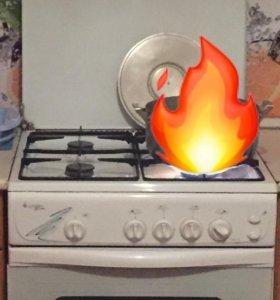 Плита газовая с вытяжкой