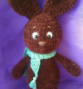 Плюшевый заяц Шоколад