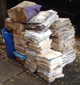 Бесплатно заберём книги, газеты, журналы, картон,