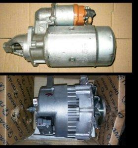 Генератор и стартер от двигателя ЗМЗ 5234.
