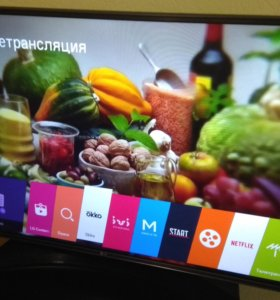"Телевизор LG Smart TV 43"" WiFi 100 Гц"