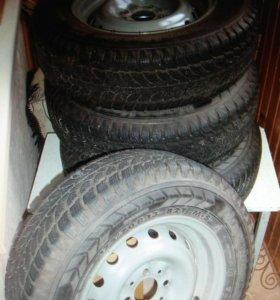 """Комплект 13"""" колес с зимней резиной"""