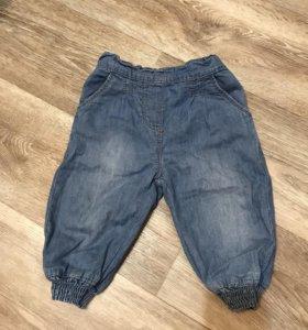 Штаны (джинсы) на девочку 6-9 месяцев