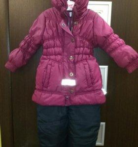 Демисезонная куртка и полукомбинезон