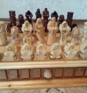 Шахматы с картиной на днище